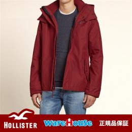 【 S サイズ】 ホリスター ジャケット 赤 レッド The Hollister Sherpa Lined All-Weather Jacket アメカジ インポート 正規品保証付 最新作直輸